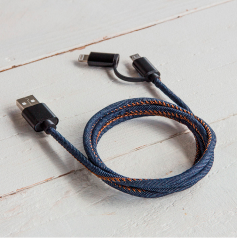 Cable de carga DENIM lightning / Micro USB