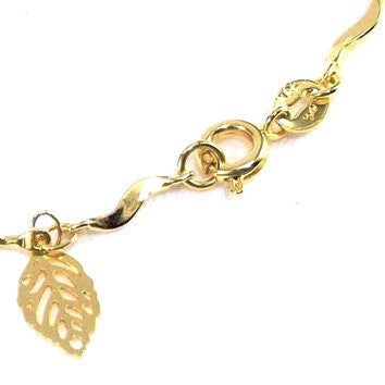 18ct Gold Plated Leaf Design Bracelet