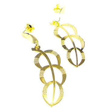 18ct Gold Plated Feather Drop Earrings
