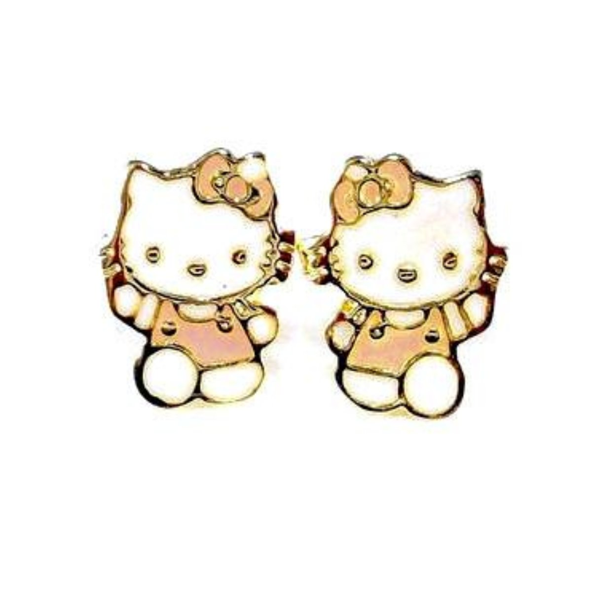 18ct Gold Plated Hello Kitty Stud Earrings Almojewellery