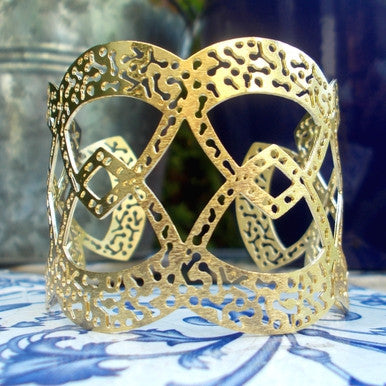 18ct Gold Plated Indian Style Cuff