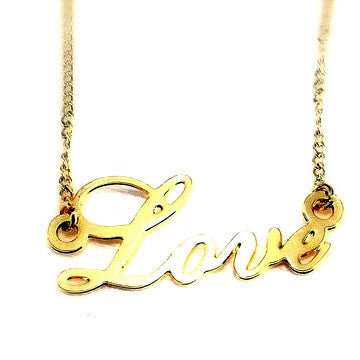 18ct Gold Plated 'Love' Pendant