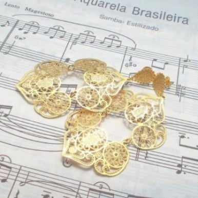 18ct Gold Plated Maxi Earrings in Portuguese Baroque Style