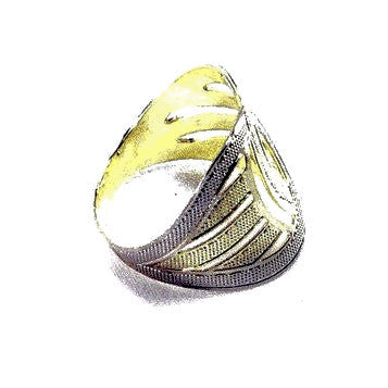 18ct Gold Plated Ring with Art Deco Design