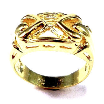 18ct Gold Plated Ring with Heart Shape Design