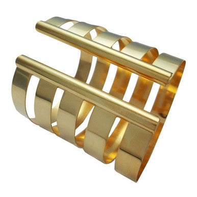 18ct Gold Plated Maxi Cutout Cuff Bracelet