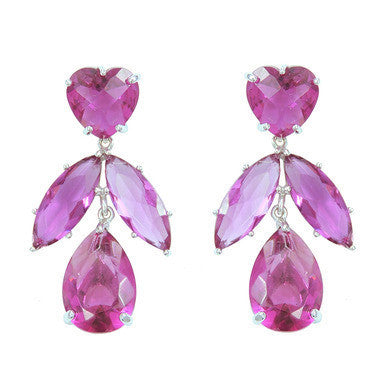 Lilac Crystal Fancy Earrings