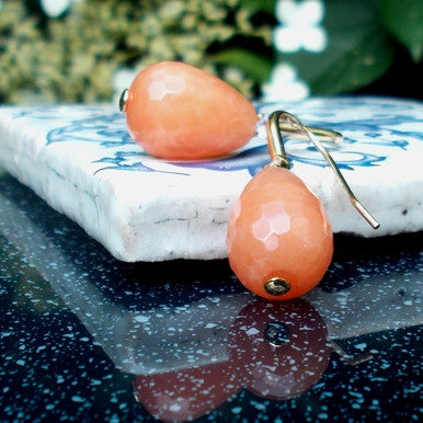 Orange Jade Earrings