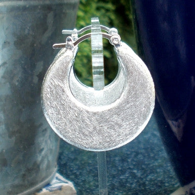 Silver Plated Crescent Moon Earrings (detail)