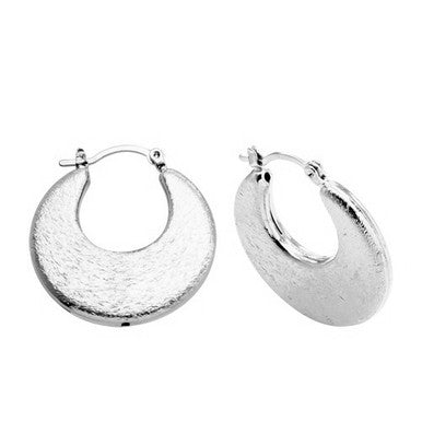 Silver Plated Crescent Moon Earrings