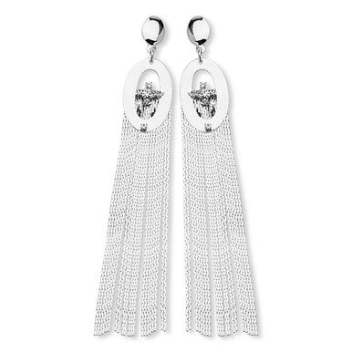 Silver Plated Maxi Tassel Earrings
