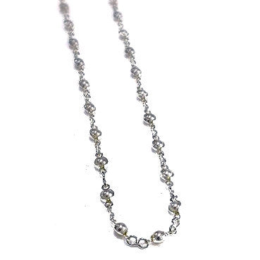 Silver Plated Mini Pearls Necklace