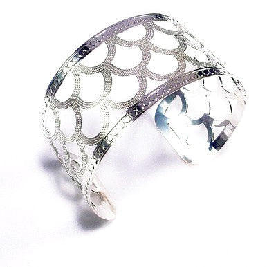 Silver Plated Oriental Style Cuff