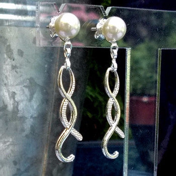 Silver Plated Pearl Effect Earrings