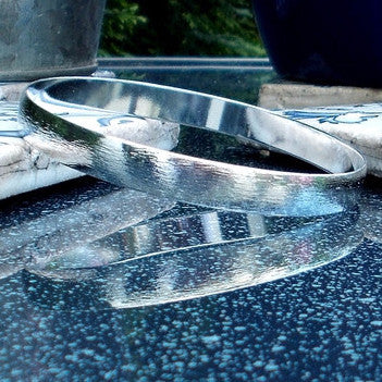Silver Plated Brushed Bangle