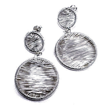 Silver Plated Round Earrings