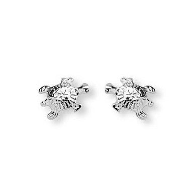 Silver Plated Turtle Stud Earrings