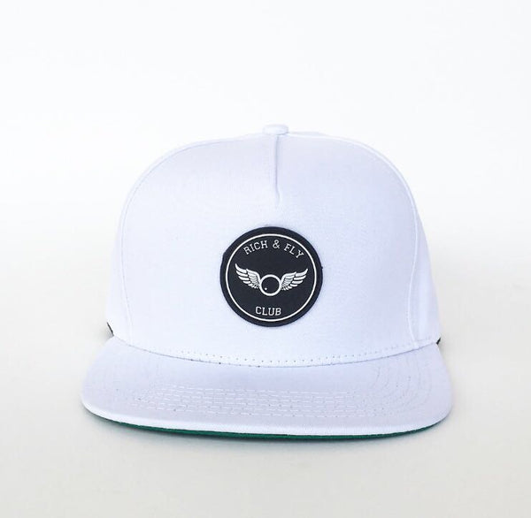 Rich & Fly 3D Rubber Patch White Snapback
