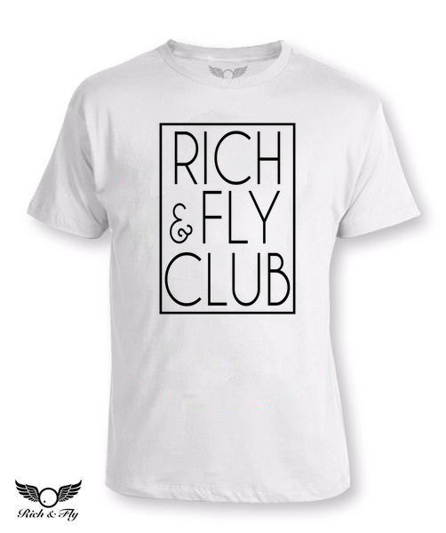 Rich & Fly Club White Tee