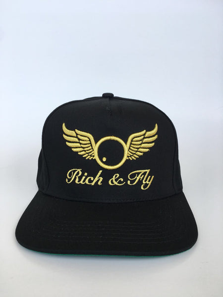 Rich & Fly Classic Black/Gold Snapback