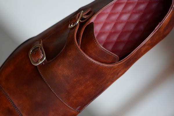 DOUBLE MONKSTRAP cognac COBBLER UNION