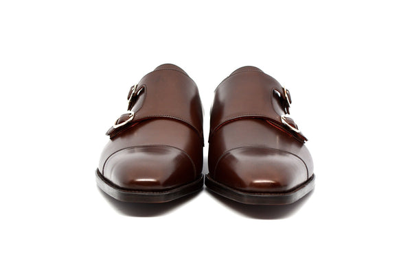 DOUBLE MONKSTRAP BROWN COBBLER UNION