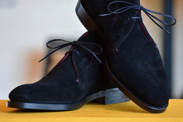 Black suede Chukka Cobbler Union