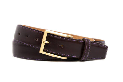 SMOOTH OXBLOOD BELT