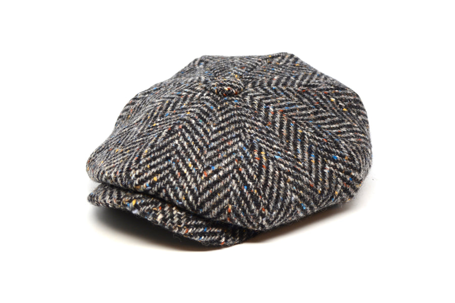 LOCK & CO. - MUIRFIELD - CHARCOAL DONEGAL HERRINGBONE