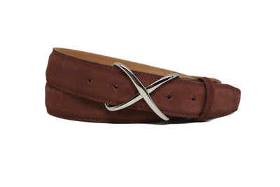 SUEDE BURGUNDY BELT