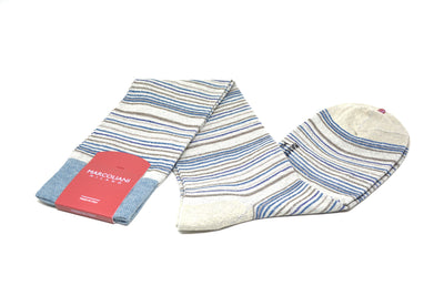 MARCOLIANI - OVER-THE-CALF LINEN BELLAGIO STRIPES