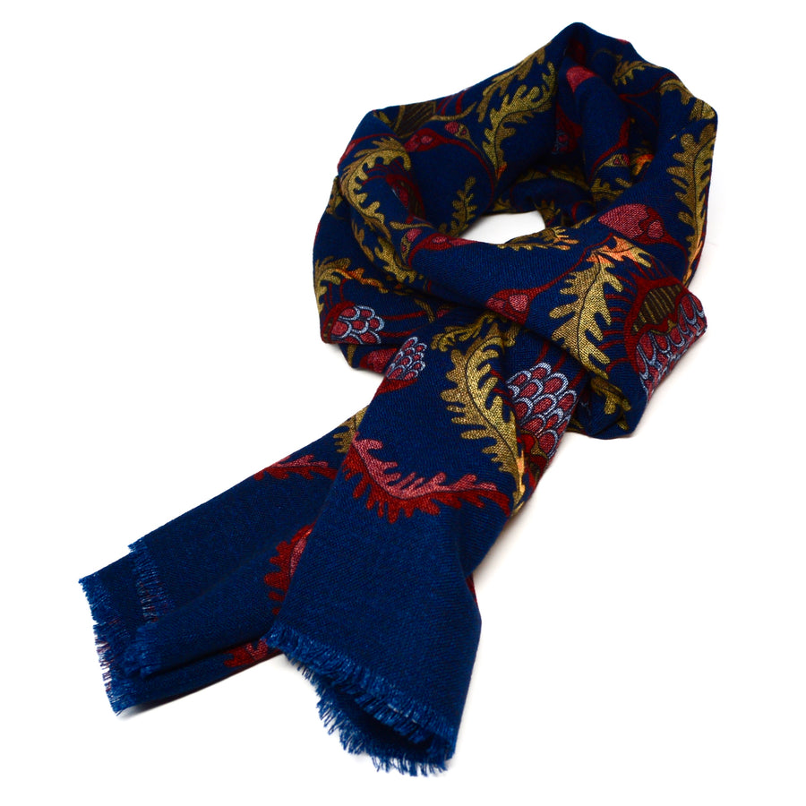 CALABRESE 1924 - SCARF - ROYAL LOTUS MOTIF