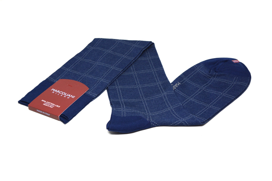 MARCOLIANI - OVER-THE-CALF WINDOWPANE