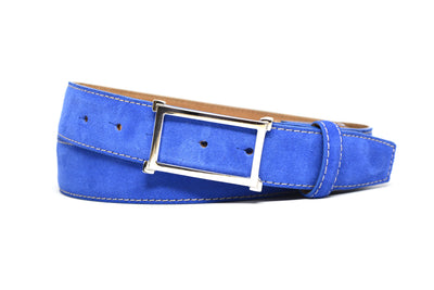 SUEDE ELECTRIC BLUE BELT