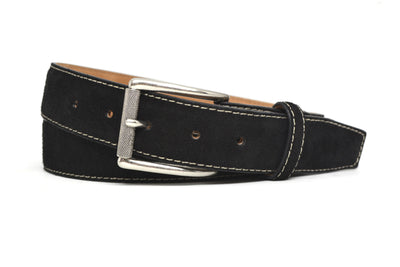 SUEDE BLACK BELT