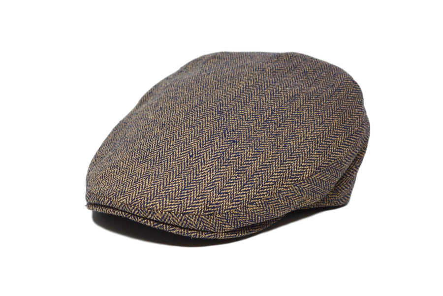 LOCK & CO. - GLEN - NAVY HERRINGBONE