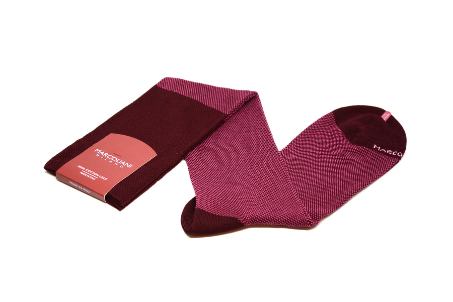 MARCOLIANI - OVER-THE-CALF BIRDSEYE - BORDEAUX