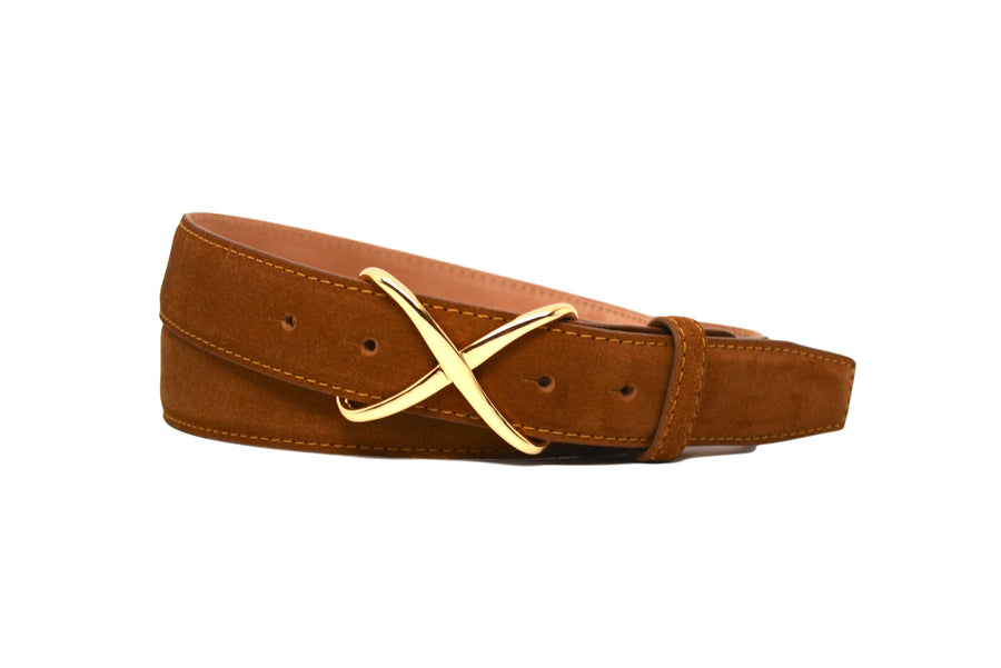 SUEDE TOBACCO BELT