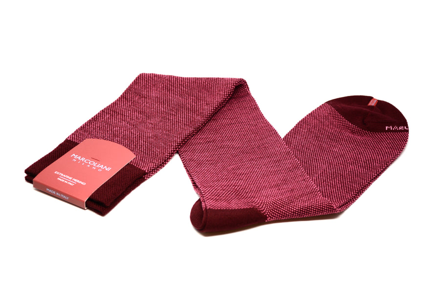 MARCOLIANI - OVER-THE-CALF BIRDSEYE MERINO - BORDEAUX