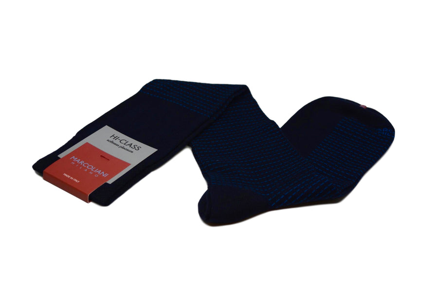 MARCOLIANI - OVER-THE-CALF MODAL STITCH BY STITCH - NAVY