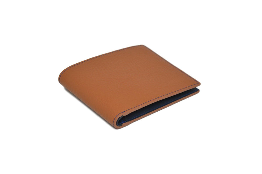 THE BILLFOLD WALLET - COGNAC/BLUE