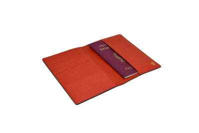 THE PASSPORT HOLDER - BLACK/RED