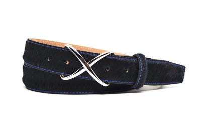 CALF HAIR BLACK BELT