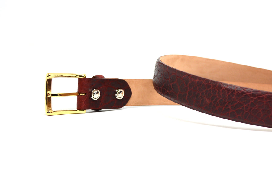 BISON OXBLOOD BELT