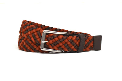 BRAIDED BRICK/BROWN BELT