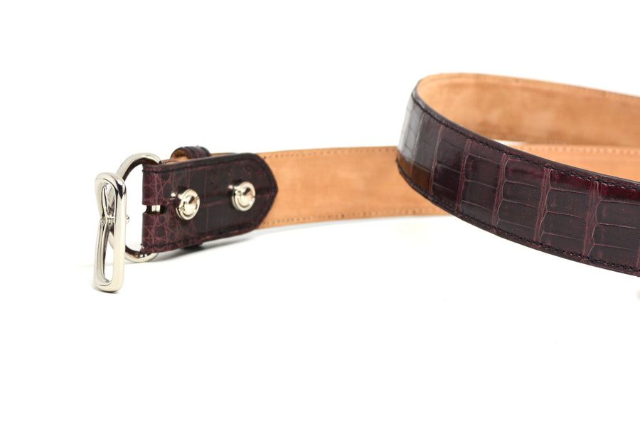CROC OXBLOOD BELT