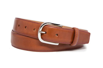 SMOOTH COGNAC BELT