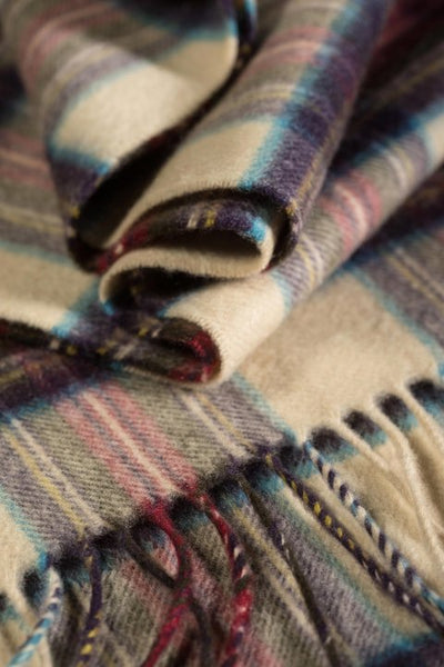 JOHNSTONS OF ELGIN - HESSIAN STEWART CASHMERE SCARF