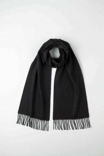 JOHNSTONS OF ELGIN - PLAIN BLACK CASHMERE SCARF