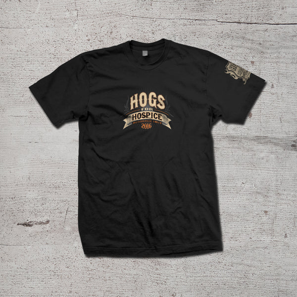 Hogs for Hospice Men's 2016 Limited Edition Tshirt